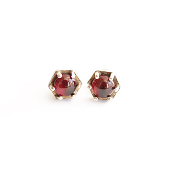 Ruby Hexagon Studs | SMITH Jewellery
