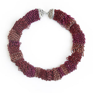 Knitted Leather & Silver Necklace | SMITH Jewellery