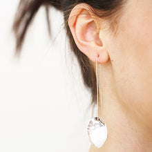 Load image into Gallery viewer, Large Petal Long Earrings | SMITH Jewellery