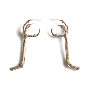 Large Talon Gilt Studs | SMITH Jewellery