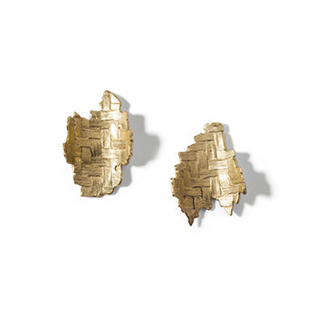 Large Woven Studs | SMITH Jewellery