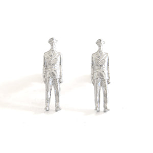 Lieutenant Silver Cufflinks | SMITH Jewellery