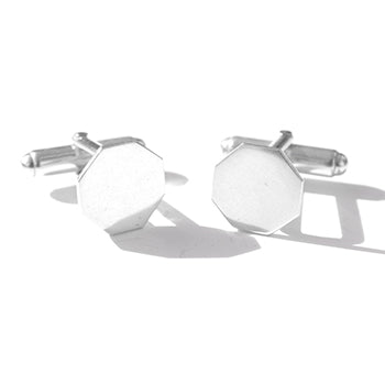 Octagon Silver Cufflinks | SMITH Jewellery