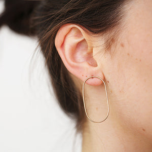 Silver Wire Studs | SMITH Jewellery