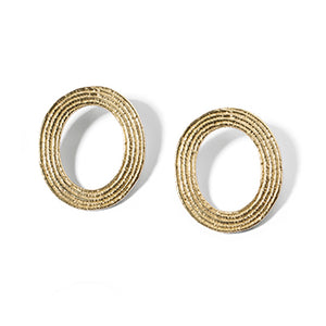 Oval Studs | SMITH Jewellery