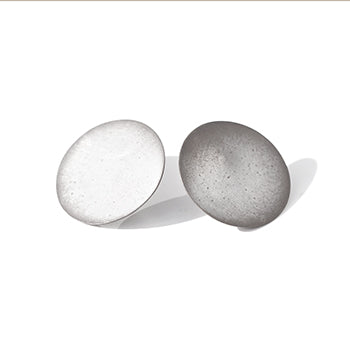 Oxidised Extra Large Round Studs | SMITH Jewellery