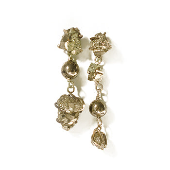 Pyrite Studs | SMITH Jewellery
