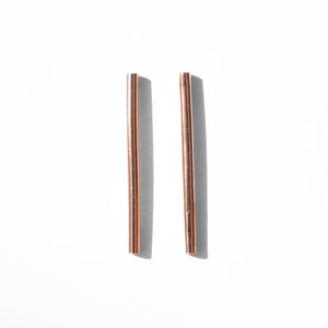 Rose Gilt Round Tube Studs | SMITH Jewellery