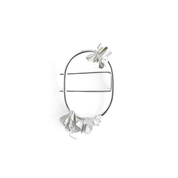 Ruffled Silver Brooch | SMITH Jewellery