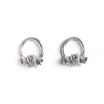 Ruffled Silver Studs | SMITH Jewellery