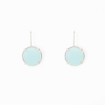 Aqua Chalcedony Earrings | SMITH Jewellery