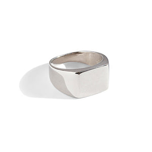 Rectangle Signet Ring | SMITH Jewellery