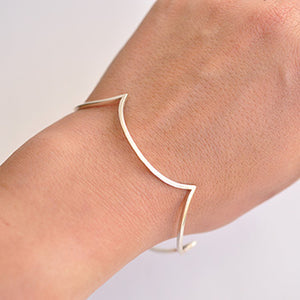 Silver Scalloped Bangle | SMITH Jewellery