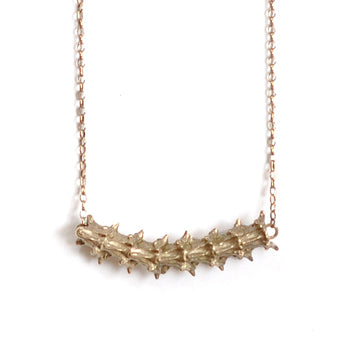 Skeleton Gilt Long Necklace | SMITH Jewellery