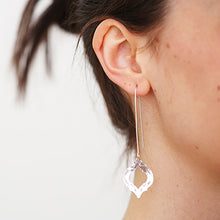 Load image into Gallery viewer, Tile Silver Long Earrings | SMITH Jewellery