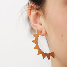 Load image into Gallery viewer, Triangle Gilt Hoop Studs | SMITH Jewellery