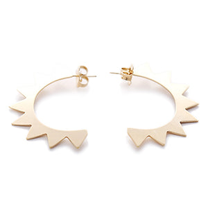 Triangle Gilt Hoop Studs | SMITH Jewellery