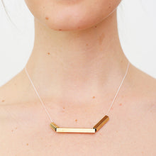 Load image into Gallery viewer, Uneven Brass Tube Necklace - SMITH Jewellery