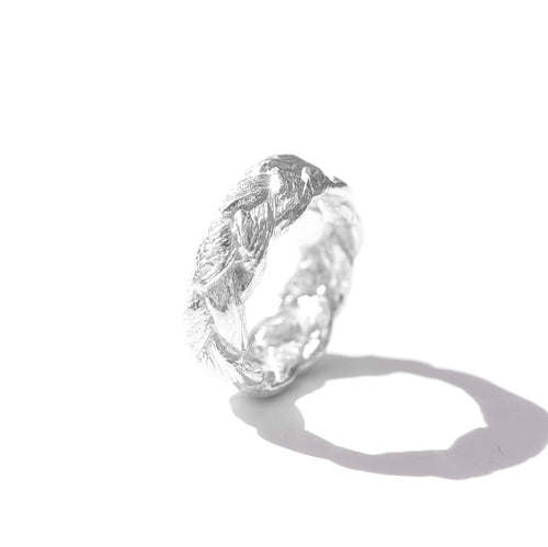 Silver Woven Ring | SMITH Jewellery