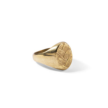 Woven Signet Ring | SMITH Jewellery