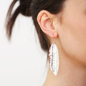 Extra Large Leaf Silver Earrings | SMITH Jewellery