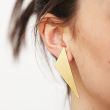 Load image into Gallery viewer, Xtra Large Triangle Gilt Studs | SMITH Jewellery