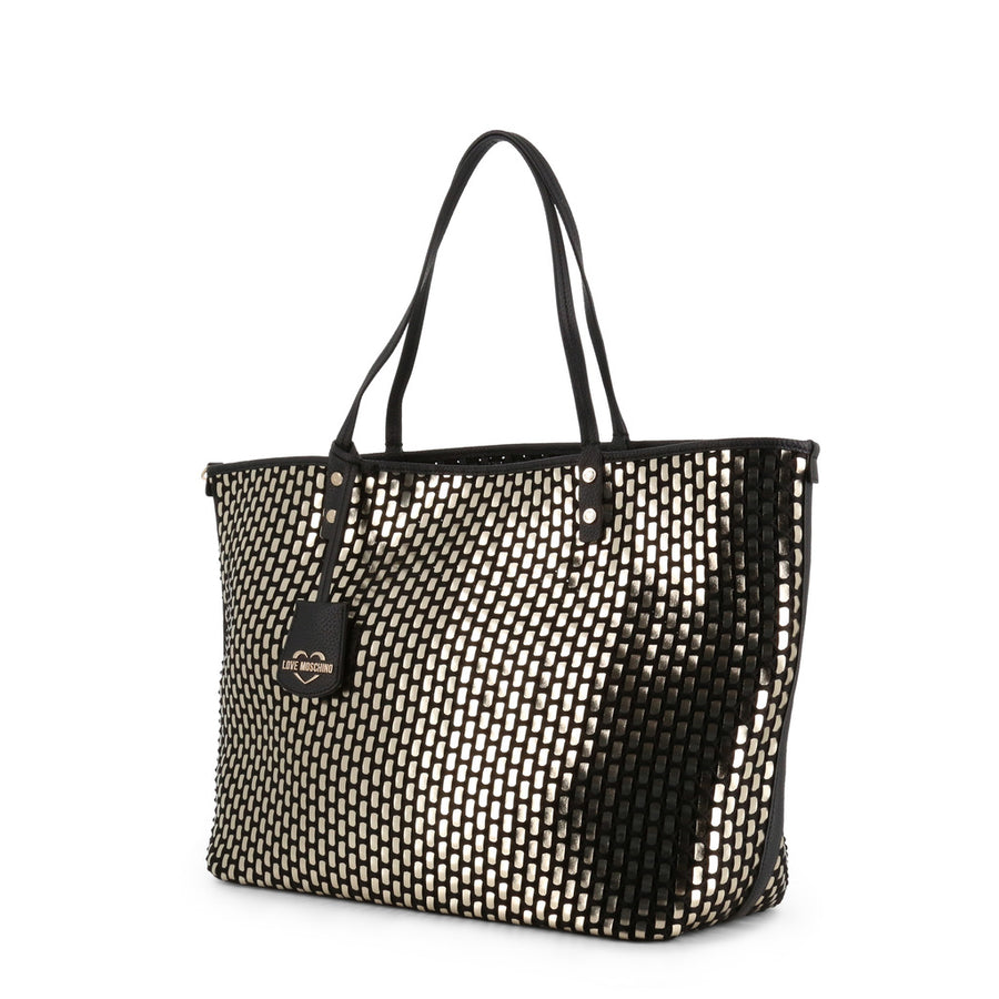 Sac Cabas en Cuir Synthétique Brillant Love Moschino JC4290PP07KM