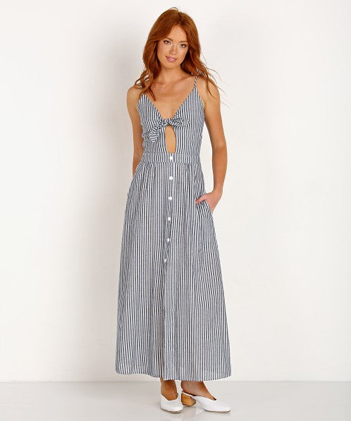 Stillwater Tie Front Maxi Dress
