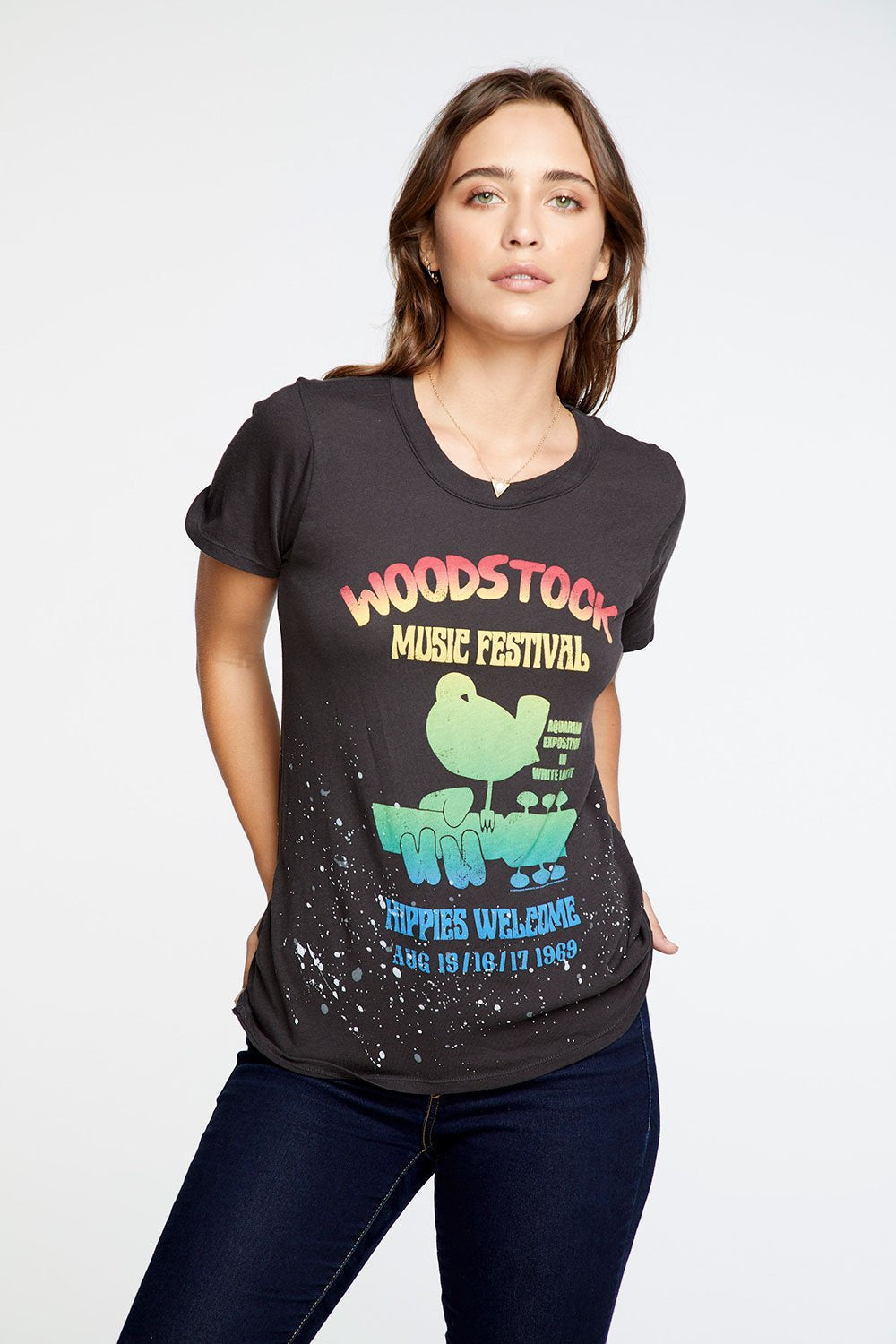 "Chaser Brand ""Woodstock Concert"" Graphic Tee"