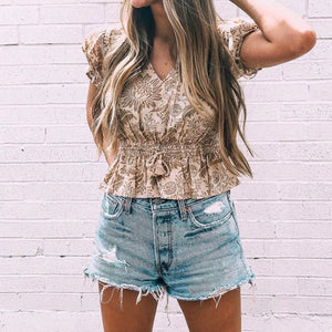 Spell + The Gypsy Collective Cap Sleeve Blouse
