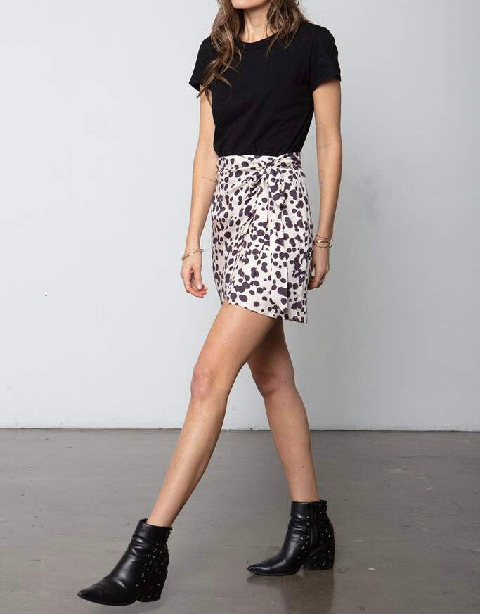 Stillwater Side Tie Mini Skirt