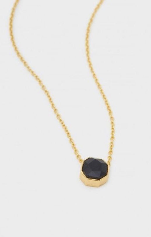 Gorjana Black Onyx Power Gemstone Necklace