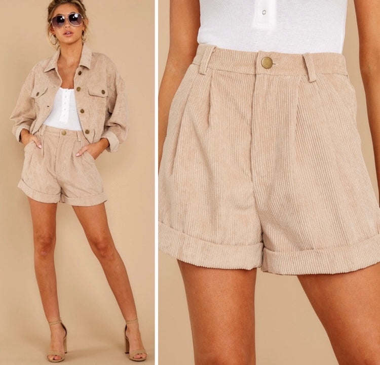 Sage The Label High Rise Corduroy Shorts