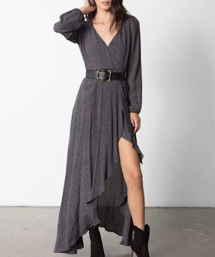 Stillwater Long Sleeve Wrap Dress