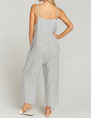 Show Me Your Mumu Striped Overalls