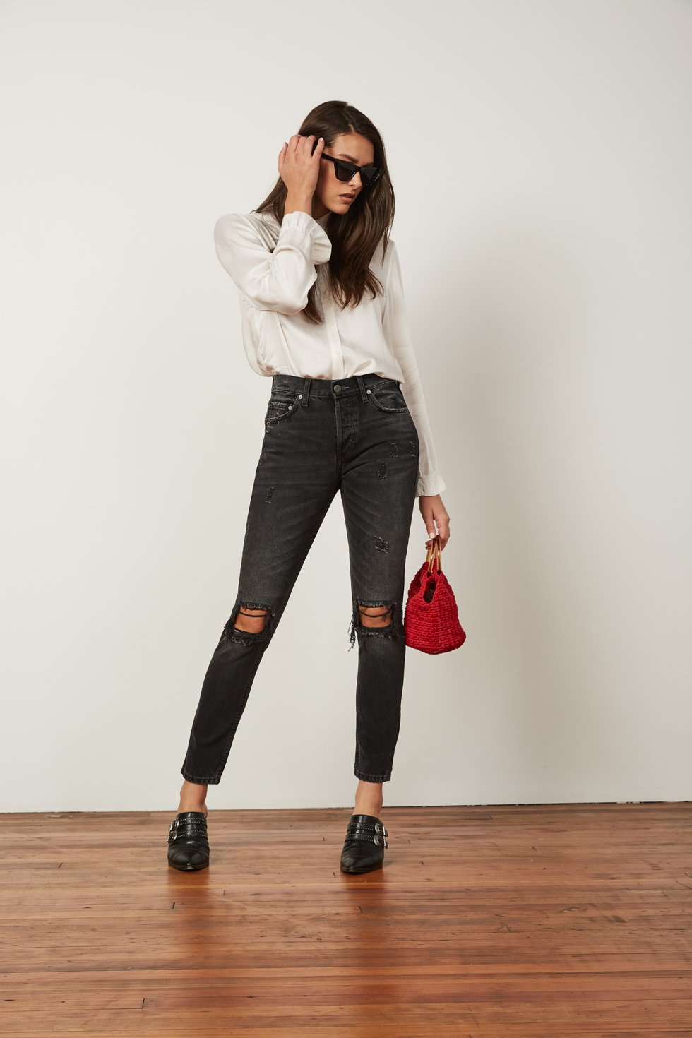 Boyish Billie High-Rise Jean in Dark Wash