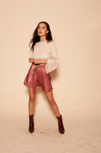 EASTNWEST Bell Sleeve Cropped Shirt