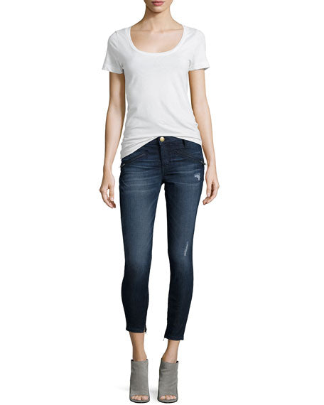 Current Elliot Ankle Zip Skinny Jeans