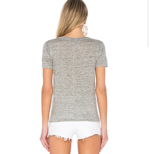 ONE LEFT! Enza Costa Linen Loose Short Sleeve Tee