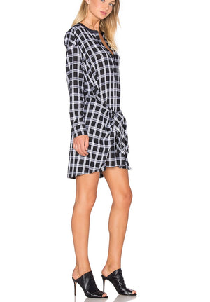 Rag + Bone Checkered Tie Front Dress