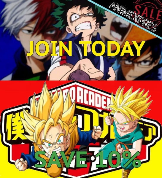 Join AnimeXpres family today and save 10%