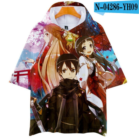 Sword Art Online Premium Hoodied T-Shirt