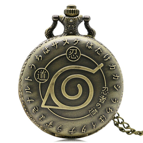 Naruto Bronze Pocket Watch - AnimeXpres