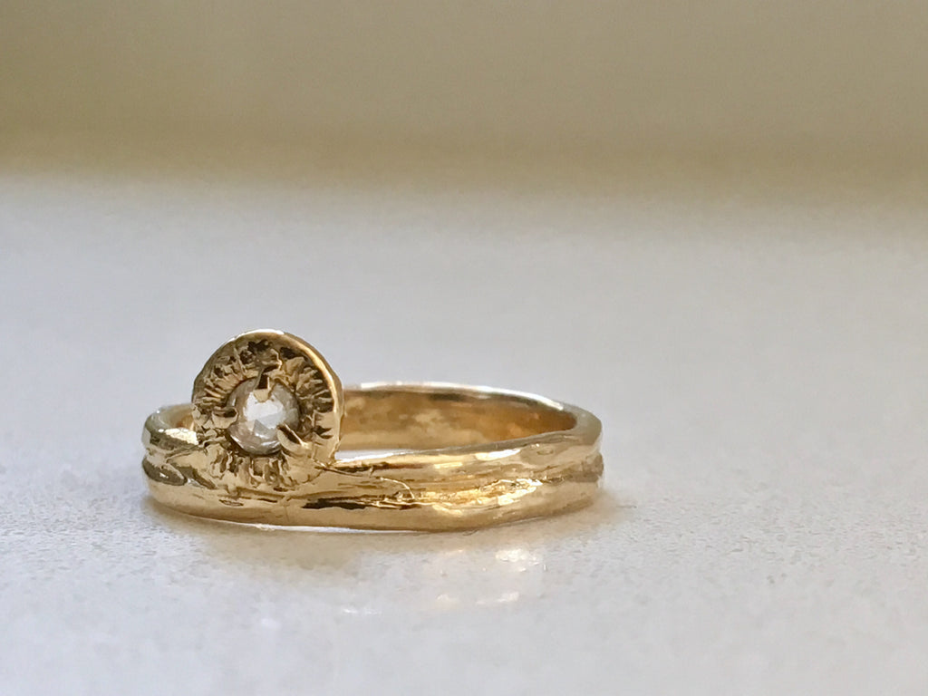Mendocino Engagement Ring Solid 14k Gold