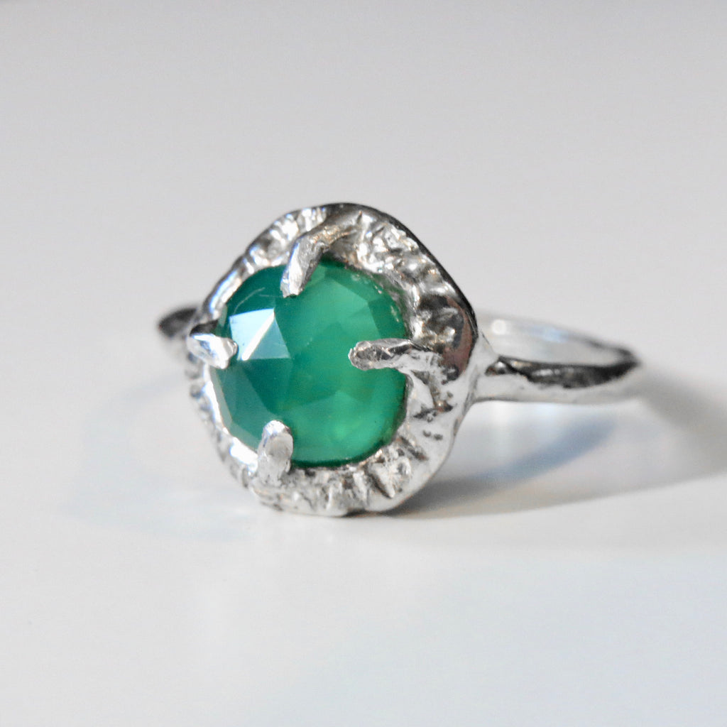 St. Helena - Green Onyx Sterling