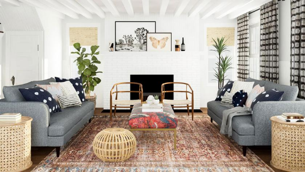 eclectic aesthetic living room