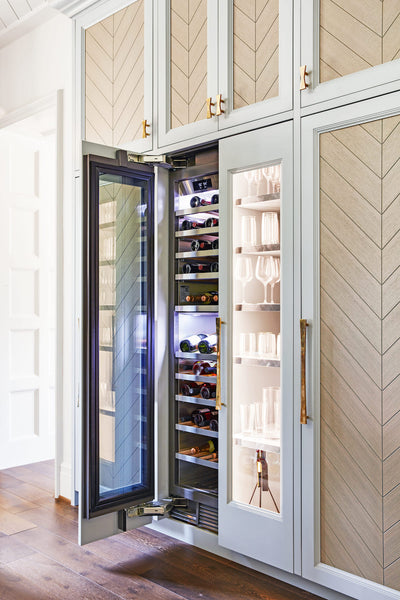 House Beautiful Whole Home Concept House Kitchen Wine Fridge