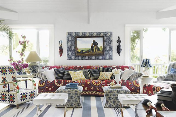 eclectic interior design styled living room