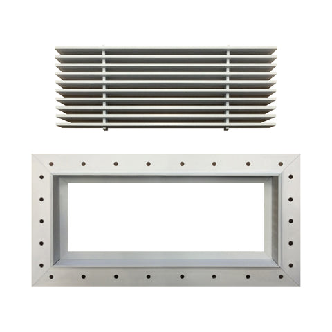 Spackle In J-Frame AG10 Grille with Removable Core (#513 Method of Fastening)