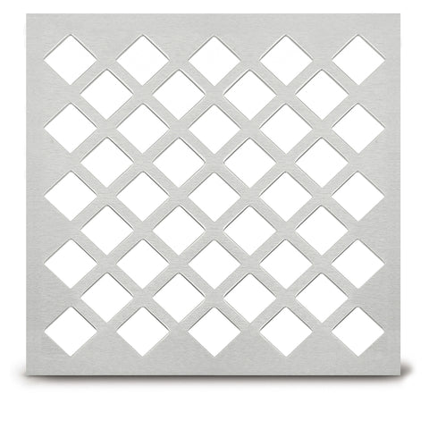 "205 Diamond Perforated Grille: 1"" with ¼"" bar - 64% open area"